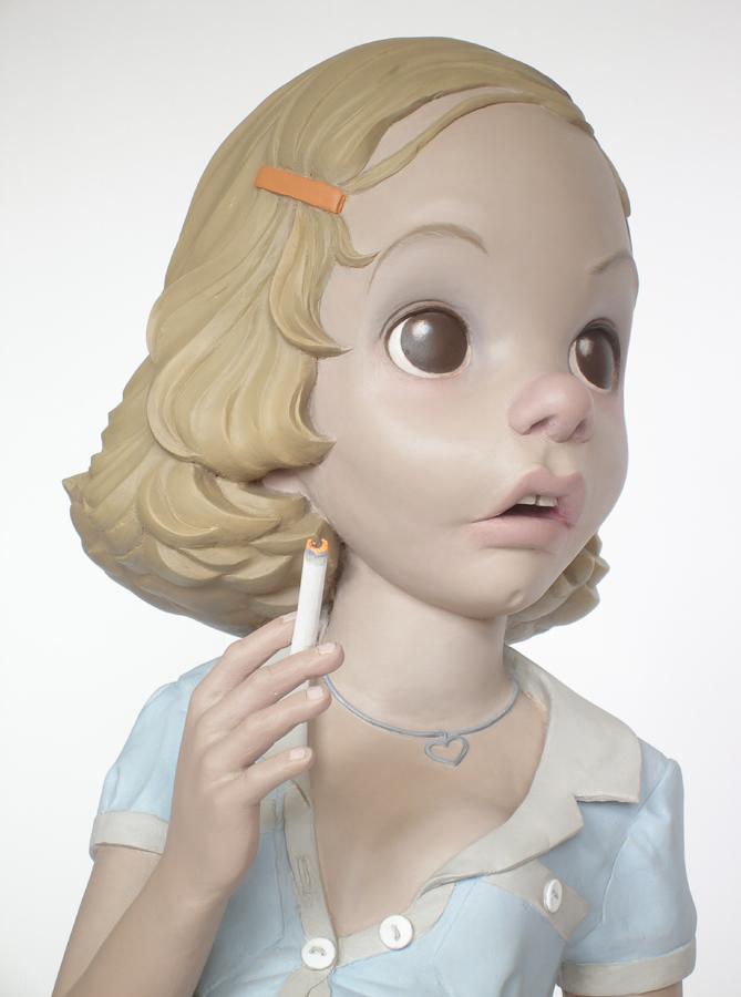 aileen wuornos pregnant teenager sculpture harma heikens detail