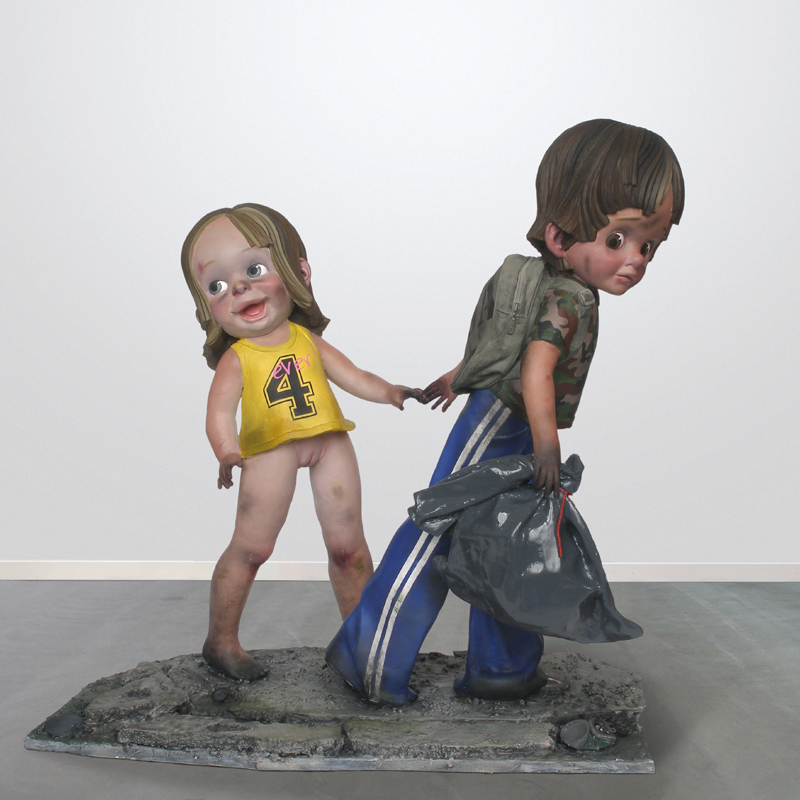 children war sculpture harma heikens