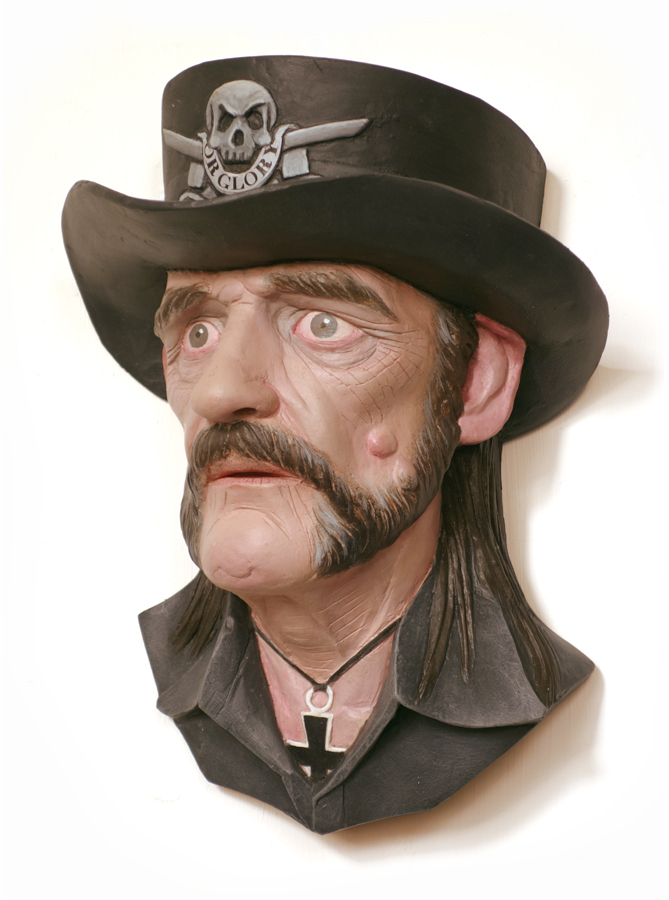 lemmy kilmister portrait sculpture