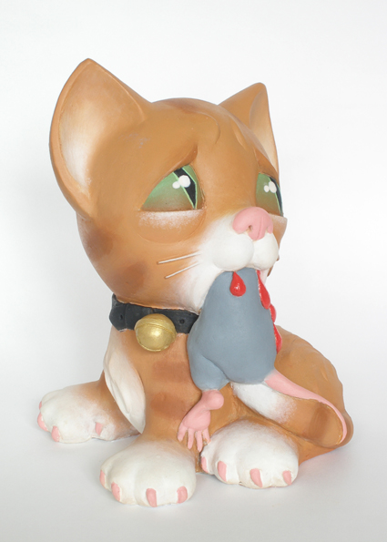cat and mouse sculpture harma heikens