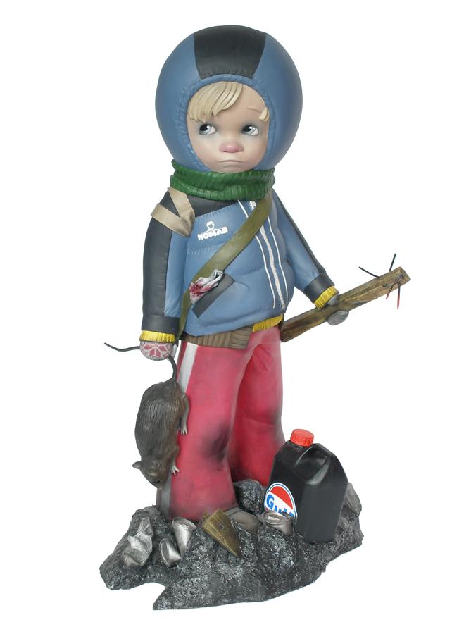 little boy with rat postapocalyptic scene harma heikens