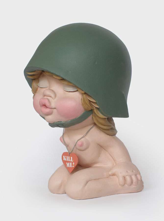 big eyes girl soldier sculpture harma heikens
