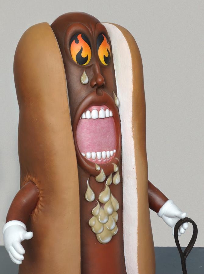hotdog dogfight sculpture harma heikens