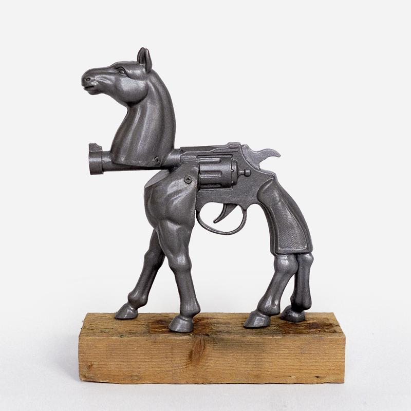 horse pistol hybrid sculpture harma heikens