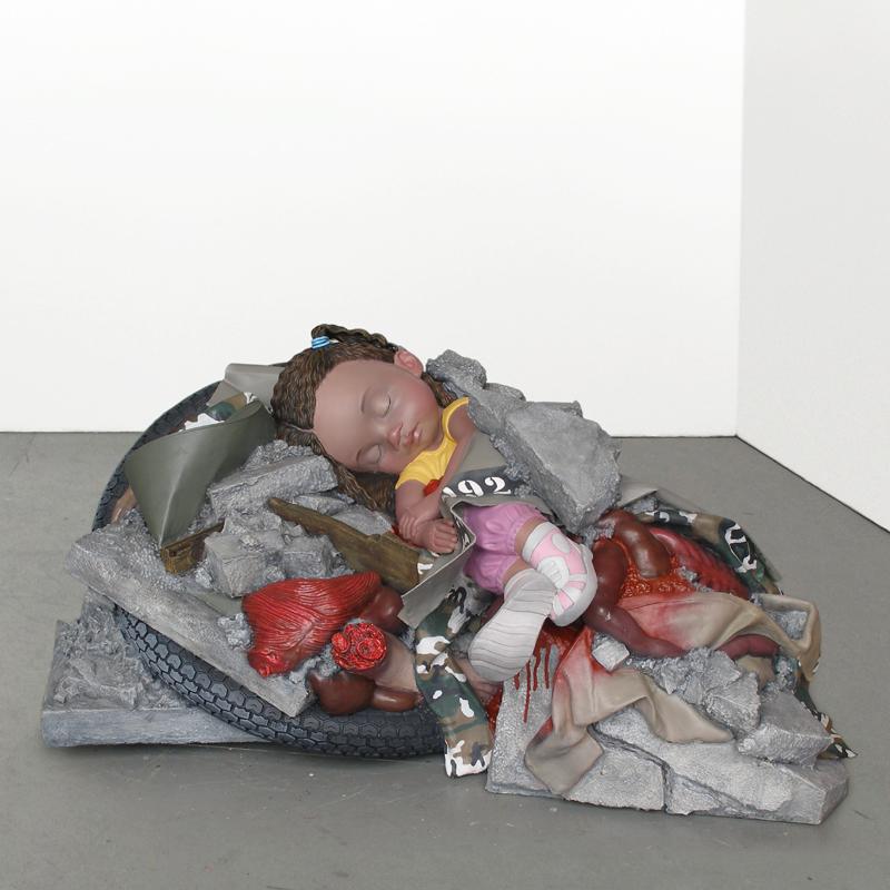 war victim child sculpture harma heikens