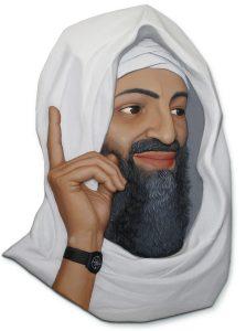 osama bin laden reliëfportrait