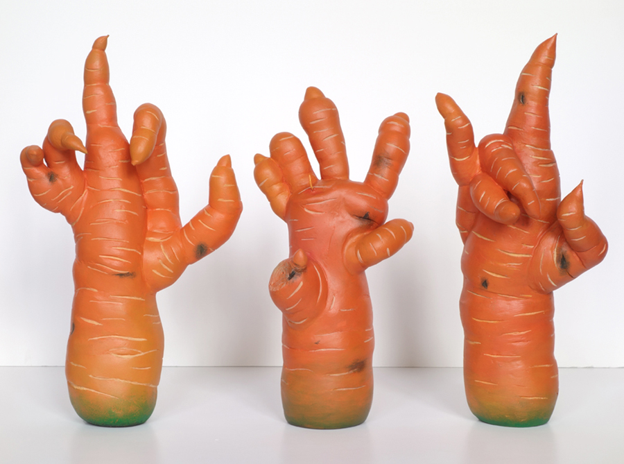 roots of evil carrot sculpture harma heikens